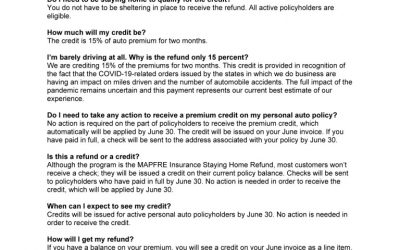 MAPFRE: FAQs about the Staying Home Refund